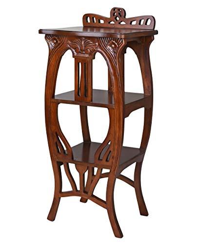 Beistelltisch Jugendstil Mahagoni Tisch Notenregal Holzregal Massivholz Standregal lup014 Palazzo Exklusiv
