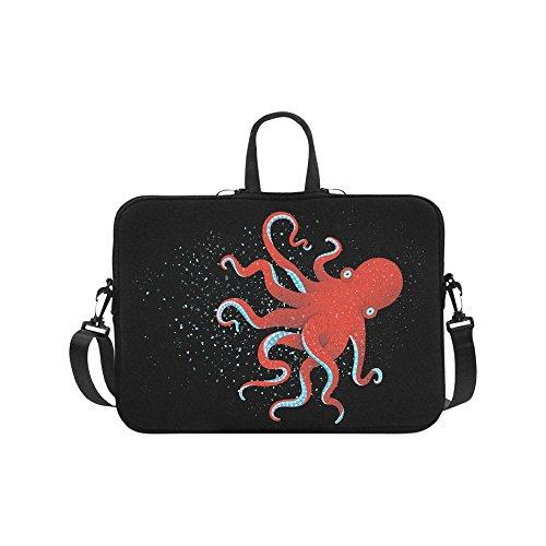 Laptop Sleeve Case 11 11.6 Inch Underwater Animal Octopus Resistant Laptop Sleeve Notebook Computer Carrying Bag Laptop Shoulder Bag
