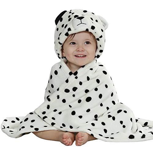 Baby Bademantel, EONHUAYU Soft Animal Kapuzendecke Baby Bad mit Kapuze für Baby Boys & Girls, 0-7 Jahre Alt (Weiß)