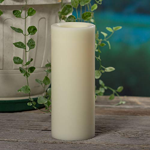 Sterno Home Premier All-Weather Wax Flameless LED Candle, 4-Inch by 10-Inch, White