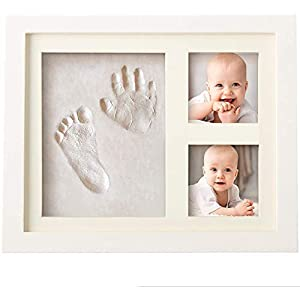 Baby Handprint and Footprint Makers Kit Keepsake For Newborn Boys & Girls, Baby Girl Gifts & Baby Boy Gifts, New Mom Baby Shower Gifts, Baby Milestone Picture Frames Baby Registry, Nursery Decor