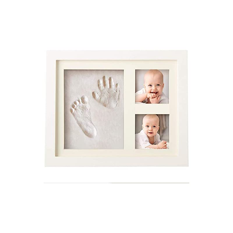 crib bedding and baby bedding baby handprint and footprint makers kit keepsake for newborn boys & girls, baby girl gifts & baby boy gifts, new mom baby shower gifts, baby milestone picture frames baby registry, nursery decor