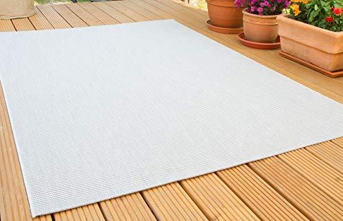 In- und Outdoor Teppich Halland Sisal Optik Silber Webteppich, GUT Siegel Zertifiziert, Größe: 200x290 cm