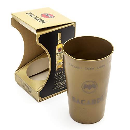Barcardi Original Cuba Libre Cocktail Dose Tumbler Gold Cup Geschenkbox Geschenk Limited Edition