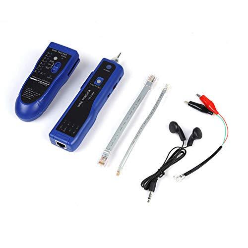 Buscador de línea Herramienta de seguimiento de cables portátil de red LAN rápida Detector de cable de tono multifuncional para comprobador de línea telefónica y verificación de(blue)