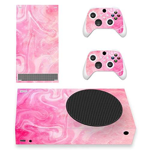 PlayVital Skin für Xbox Series S, Aufkleber Vinyl-Skins Schutzfolie Wrap Abziehbild Abdeckung Stickers Folie für Xbox Series S Konsole Controller-Psychedelic Pink
