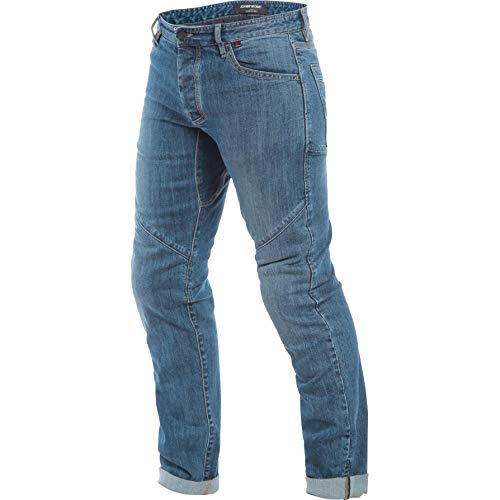 Dainese Tivoli - Pantalones vaqueros para moto, para todo el año, color azul 43, para hombre, chopper/cruiser, tela