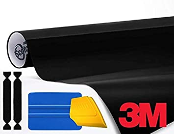 5ft x 5ft 3M 1080 Gloss Black Air-Release Vinyl Wrap Roll Including Toolkit
