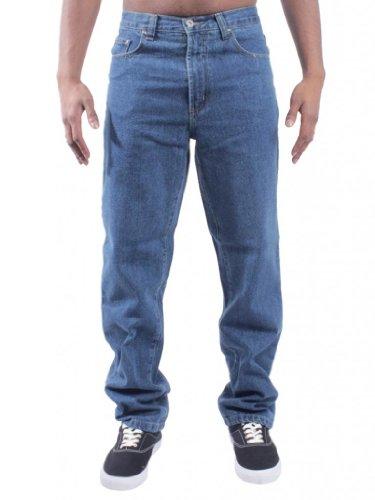 NUEVO CON ETIQUETA HOMBRE BLUE CIRCLE TRABAJO GRANJEROS MECÁNICA PANTALONES DENIM VAQUEROS, TALLA CINTURA 28-60 BCB1 - algodón, Prelavado, 100% algodón, Hombre, 44 Regular