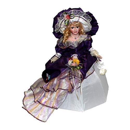 HomeDecTime Viktorianischen Porzellan Puppe Sammeln Keramik Puppen Actionfiguren - Style4, 14x9x45cm