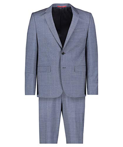 Hugo Boss Herren Anzug Astian/Hets184 Extra Slim Fit zweiteilig blau (296) 102