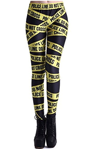 Bestland Damen Legging Tattoo Leggins Sterne Print Style Comic Elastische Stretch Strumpfhose Hüfthose Skinny Hose Enge (#17)