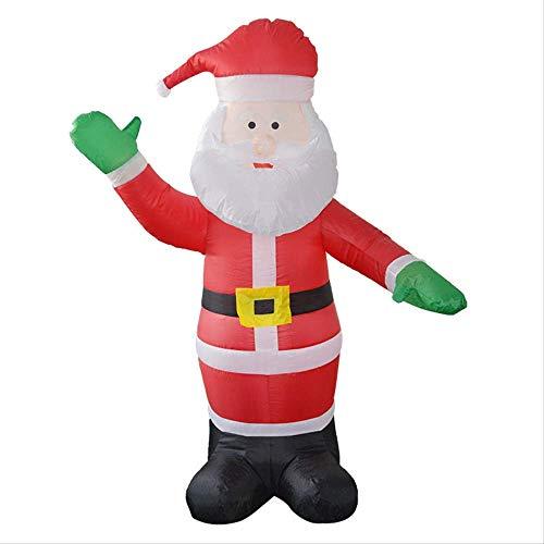 1yess Decoracin de Navidad Suministros de 1,8 Metros Inflable Que Brilla Santa Claus Tienda Tienda Ambiente Decoracin Atrezzo