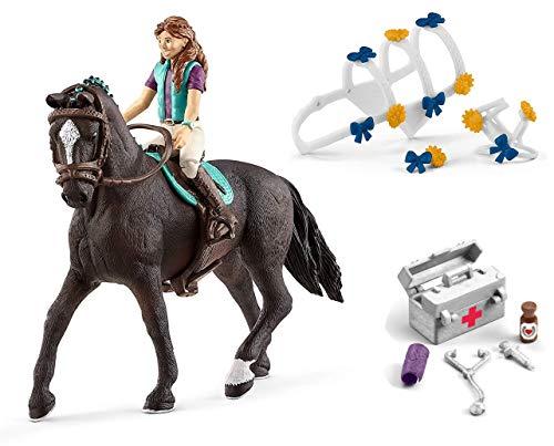 3in1-SET Schleich Pferde Horse Club - Lisa & Storm mit Schmuckset für Pferdeshow und Stallapotheke