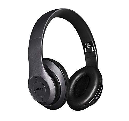 Bluetooth Headphones Wireless Headpohones Clear, Cheap, Good Headgear Wireless 4.1 Headphones Metolic Black