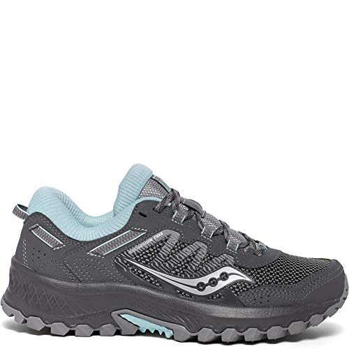Saucony Women's VERSAFOAM Excursion TR13 Walking Shoe, Charcoal/Blue, 10 M US