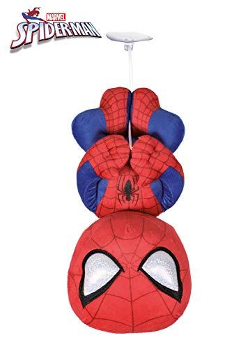"""Marvel - Peluche Spiderman Pose colgado Boca Abajo con Ventosa 11,42""""/29cm Calidad Soft"""