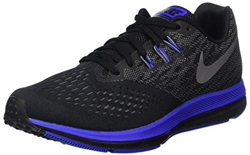 Nike Men's Air Zoom Winflo 4 Running Shoe, White/Black/Wolf Grey 7.5
