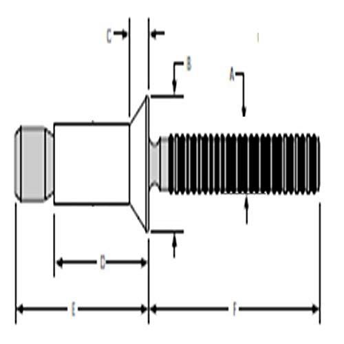 Huck Magna-Lok Blind Rivets, MGL100-B6-6 Blind Rivets; 3/16 Inch, (.187 Inch), (.125-.331mm), 100 Deg Flush HD, Alum,