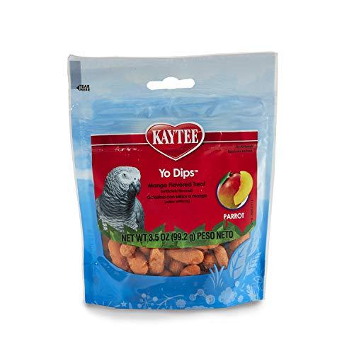 Kaytee Yogurt Dipped Mango Flavor Treat For Large Hookbills, 3.5 Oz.
