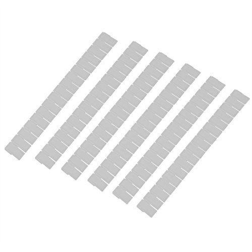 SODIAL(R) 6pcs Plastique Tiroir Placard Grille separateur Range En ordre Organisateur Conteneur Maison Stockage Blanc