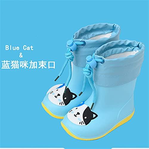 LUBINGT Rain Boots Children's Rain Boots Boys and Girls Cute and Lightweight Anti-Slip Rain Boots Waterproof Little Kids' Rain Boots Rubber Shoes (Color : Multi, Shoe Size : Inner Length 16cm)