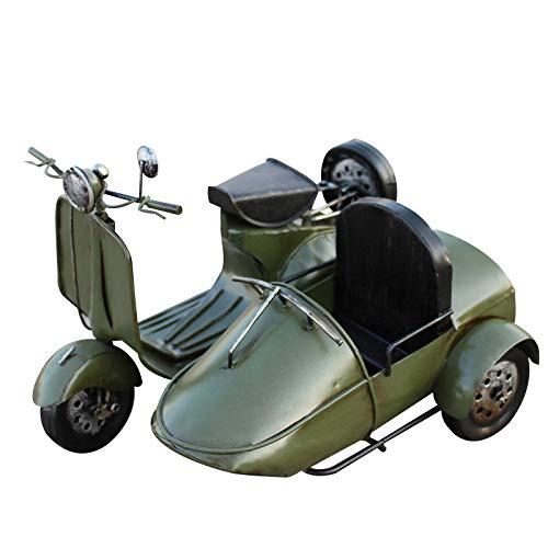 Militärgrün dreirädriges Motorrad Modell Eisen Auto Modell Eisen Handwerk Retro Handwerk Geschenkprodukt