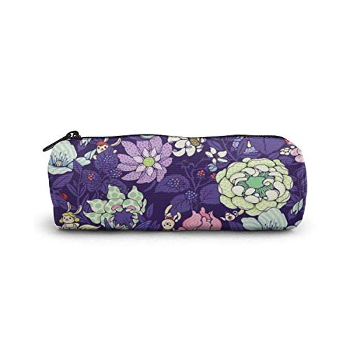 Yuanmeiju The Garden Party Blueberry Tea Version Estuche Holder Zipper Pen Bag Pouch Students Stationery Small Travel Storage Cosmetic Makeup Bag Purse