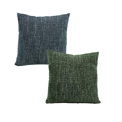 QXbecky Fundas de Cojines Funda de Almohada Cuadrada con patrón Cruzado de Chenilla Simple y Fresca de Color sólido sin núcleo 1~2 Piezas de decoración de sofá Funda de Almohada de Microfibra
