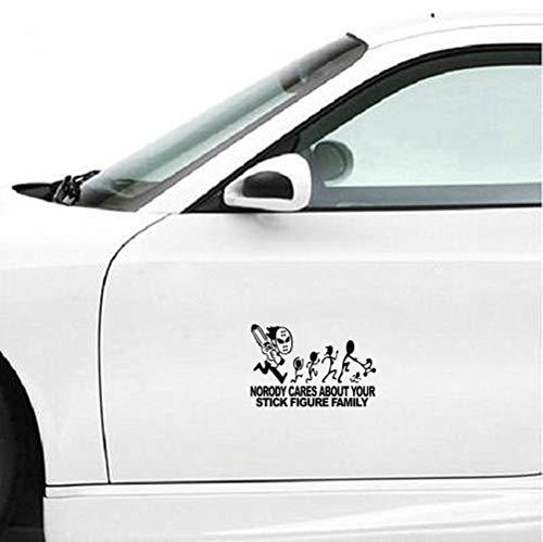 Auto-Aufkleber 23x15cm Jason Mit Kettensäge Zitat Aufkleber Kein Körper kümmert sich um die Karosserie Fenster Tür Heckscheibe