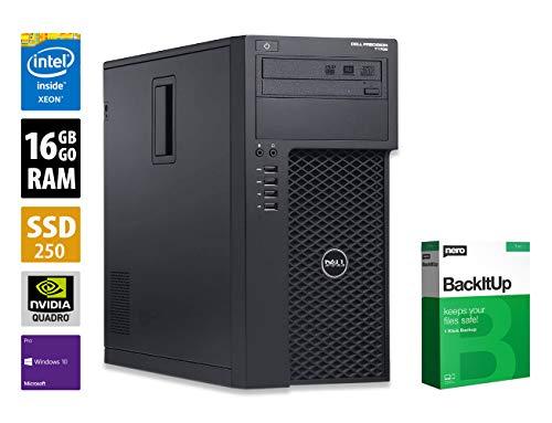 Dell Precision T1700 MT - Xeon E3-1226 v3 @ 3,3 GHz - 16GB RAM - 250GB SSD - DVD-RW - Nvidia Quadro K2200 - Win10Pro (Zertifiziert und Generalüberholt)