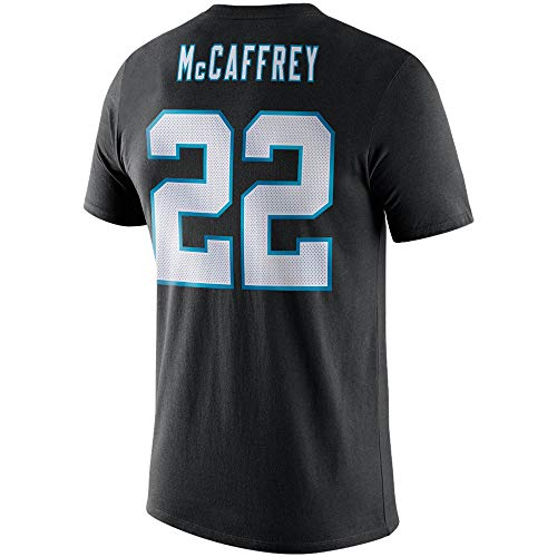 NFL Youth 8-20 Team Color Alternate Dri-Fit Cotton Player Name and Number Jersey T-Shirt (Youth - Large, Christian McCaffrey Carolina Panthers Home Black)