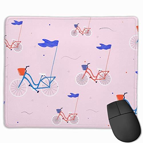 Fahrrad Blaue Flagge Muster Rechteckige rutschfeste Gaming-Mauspad Tastatur Gummi-Mauspad für Heim- und Büro-Laptops