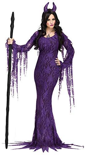 CWZJ Halloween Cosplay Disfraz Mujer Horror Novia Fantasma Traje Lechuga Romana Traje Disfraces Fiesta Disfraces Cosplay Adulto Halloween Carnaval Fiesta Tema,Purple,L