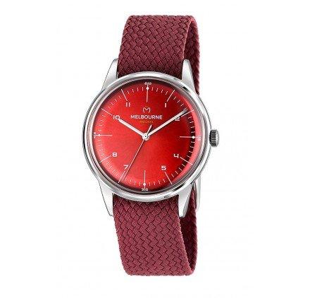 Reloj MELBOURNE Acero Rojo MEL-10-09