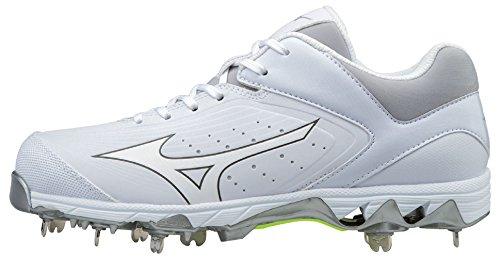 Swift 5 Metal Softball Cleats - White