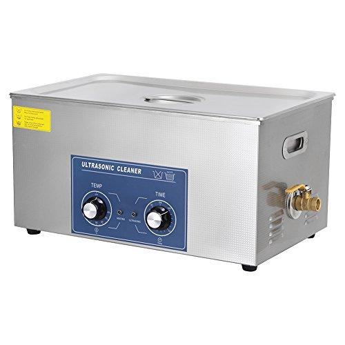 Cocoarm 1pc Edelstahl Digital Ultraschallreiniger Ultraschallreinigungsgerät Beheizte Reinigung Tank Maschine mit Heizung Digitale Timer und Korb (22L)