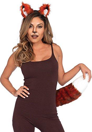 shoperama Leg Avenue - Set di copricapo e coda di volpe, da donna, per carnevale