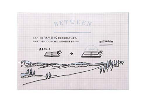 ショウワノート 大人の水平開きノート「BETWEEN」A5判 80頁 灰表紙(5mm方眼)