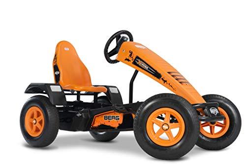 BERG E-Gokart mit XXL-frame X-Cross   Kinderfahrzeug, Tretauto mit verstellbarer Sitz, Mit Freilauf, Elektrisch, Kinderspielzeug geeignet für Kinder im Alter ab 5 Jahren