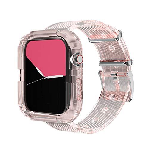 ESTK Bandas Deportivas De Resina Transparente, Correas De Protección Completa Compatibles Con Apple Watch Band, Correas De Repuesto Para La Serie Iwatch