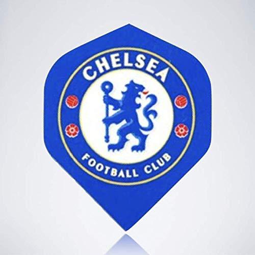 myDartpfeil Blaue Standard Dart Flights | FC Chelsea aus Kunststoff | 3er Flight Set | Dartpfeil Flyer