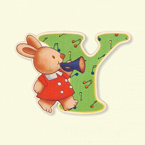 Dida - Lettre Y Bois Enfant - Lettres Alphabet Bois pour Composer Le nom de Votre bébé et décorer la Chambre