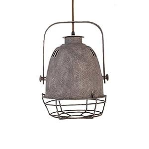 Design–Lámpara colgante VINTAGE EDISON Loft estilo, moderno IKEA lámpara colgante & lámpara plafón, instalación fácil para iluminación cocina, comedor, Salón (gris E27)