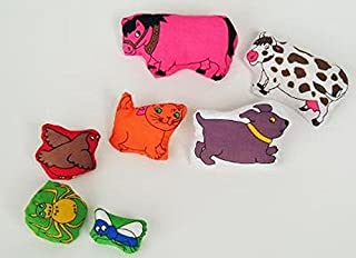 There was an Old Lady...7 Bean-Filled Animals (Plush Toys)