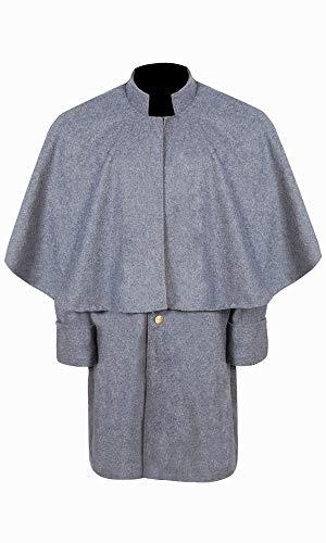Civil War CS Enlisted Officer's Great Coat (48) Grey