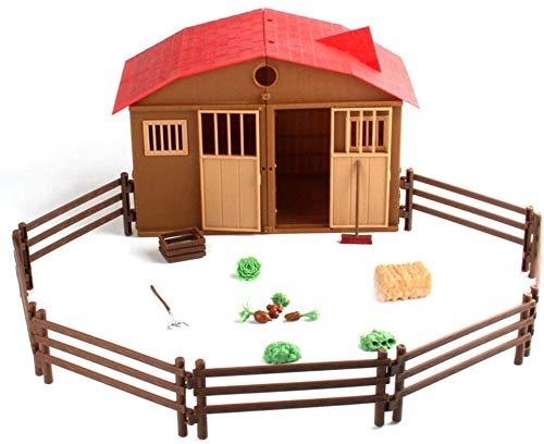 Escena Tabla niños Simulación Fence Farm Juego de imaginación Set Juguetes Sand Prop Regalo de cumpleaños for los niños JXNB