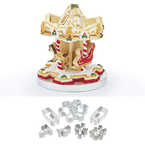 KitchenCraft Sweetly Does It 3D Carousel Cookie Cutter Kit (7 Pieces)