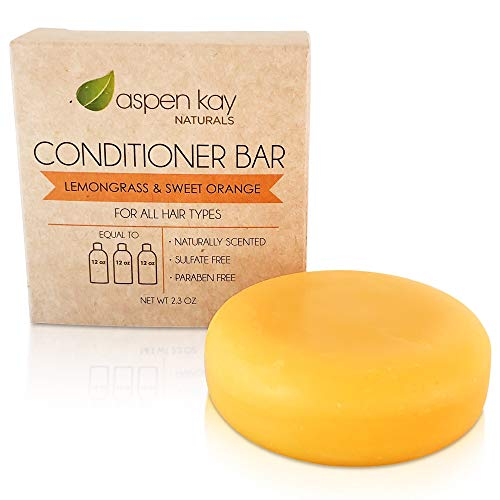 Solid Conditioner Bar, Made With Natural & Organic Ingredients, All Hair Types, Sulfate-Free, Cruelty-Free & Vegan 2.3 Ounce Bar. (Citrus)