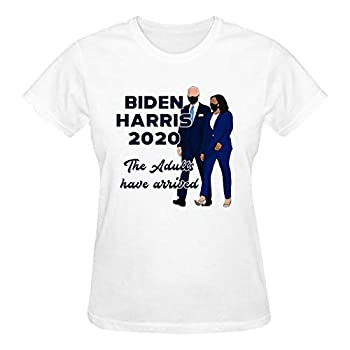 Biden Harris 2020-2 Women Cotton T Shirt Soft Comfortable 3D Graphic Feminist Tshirt